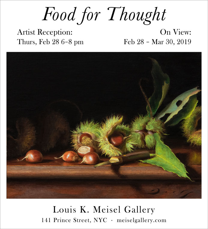 """in the """"food for thought"""" exhibition at the louis k."""