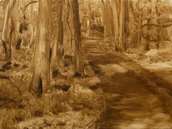 Underpainting for 'A Forest PAth'