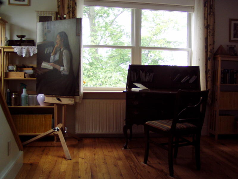 Painting 'At Her Desk'
