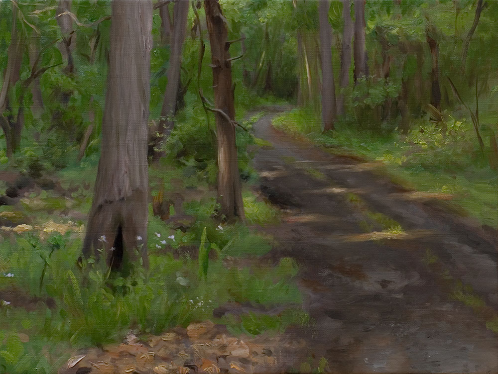 "Behind the painting: ""A Forest Path"""