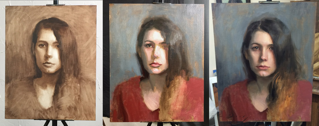 Portrait Painting Workshop in Los Gatos, California
