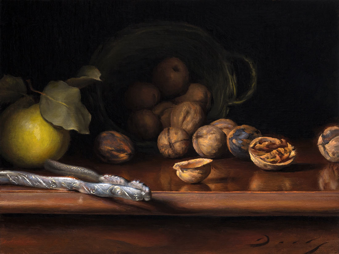 Still Life with Walnuts and Quince
